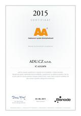 Certifikát BISNODE
